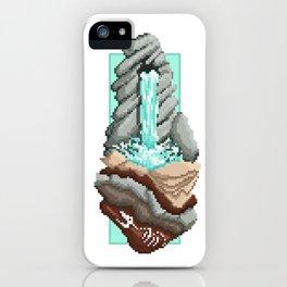 Pixel Landscape : Water Fall iPhone Case