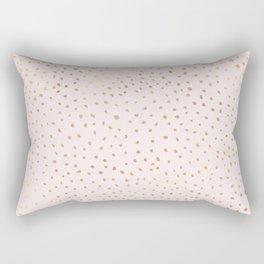 Dotted Gold & Pink Rectangular Pillow