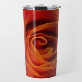 Orange rose closeup Travel Mug