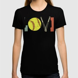 Distressed Look Girls Softball Love Gift Design product T-shirt