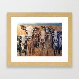 Cow Family of Love Framed Art Print