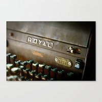 writer Canvas Prints featuring Writer  by Rick Staggs