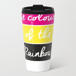 With all the Colours of the Rainbow Metal Travel Mug