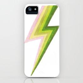 Lightning Bolts - Citrus iPhone Case
