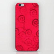 Festive Red Spirals iPhone & iPod Skin