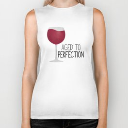 Aged To Perfection - Wine Biker Tank