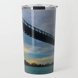 The Ambassador Bridge connects Detroit USA, & Windsor CA Travel Mug