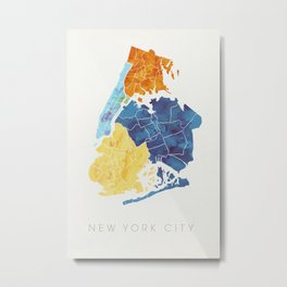 NYC Boroughs Metal Print
