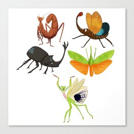 Insect Sticker sheet 2 Canvas Print