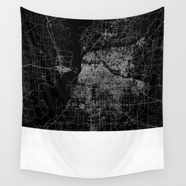 Memphis map Wall Tapestry