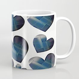 Silver hearts-White Coffee Mug