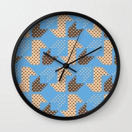 Clover&Nessie Cider/Mocha Wall Clock