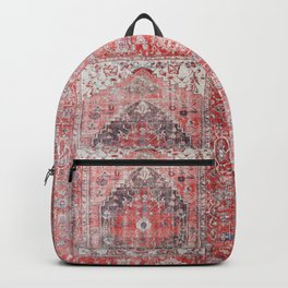Vintage Anthropologie Farmhouse Traditional Boho Moroccan Style Texture Backpack