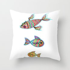 The Swimming Ones Throw Pillow