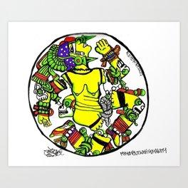 Coyolxhauqui : Aztec Moon Goddess Art Print