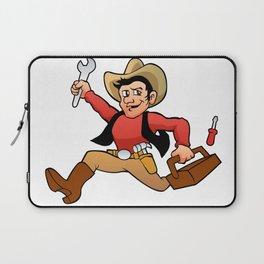 handyman cowboy. Laptop Sleeve