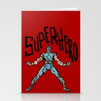 superhero Stationery Cards featuring SuperHero by Logan_J
