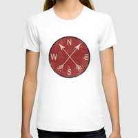 compass T-shirts featuring Compass by Duke Dastardly