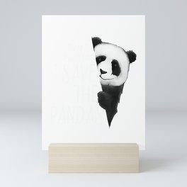Panda Bear Drawing A Good Day To Save the Pandas T-Shirt Mini Art Print