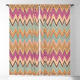 Seamless chevron zigzag pattern geometrical background Blackout Curtain