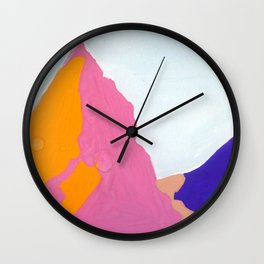 mountains: warm and cold colors Wall Clock