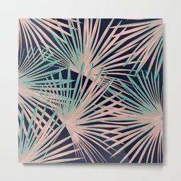 Tropical Fan Palm Leaves #5 #tropical #decor #art #society6 Metal Print