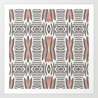 ikat Art Prints featuring Ikat  by bunglo by shay spaniola