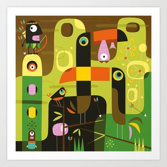 The toucan hunter Art Print