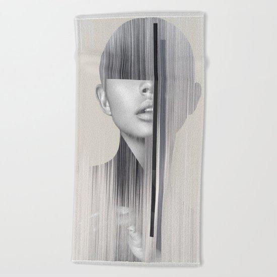 portrait(geometric) Beach Towel