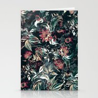 garden Stationery Cards featuring Space Garden by RIZA PEKER