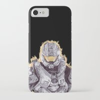 master chief iPhone & iPod Cases featuring Halo Master Chief by DeMoose_Art