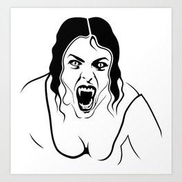 Vampirfrau Art Print