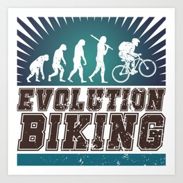 Evolution Biking Art Print