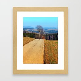 Tree in the middle of the road | landscape photography Framed Art Print