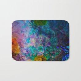 multicolored waves Bath Mat