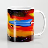 spaceship Mugs featuring Spaceship by JT Digital Art