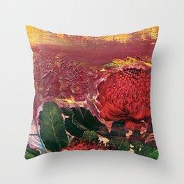 Waratah Dreaming Throw Pillow