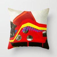 bauhaus Throw Pillows featuring BauHaus 1 by Marko Köppe