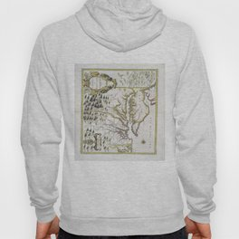 Vintage Map of Virginia and Maryland (1796) Hoody