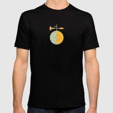 Fruit: Cantaloupe Black Mens Fitted Tee MEDIUM