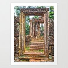 Temple Ruin Doorways Art Print