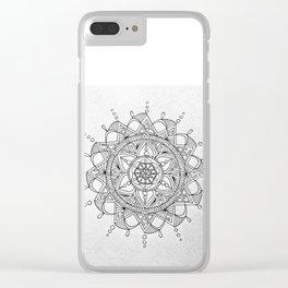 mandala2 Clear iPhone Case
