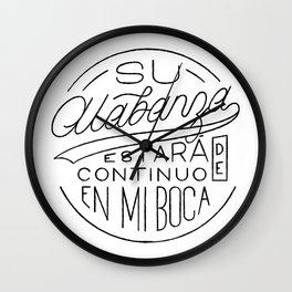 Su Alabanza Wall Clock