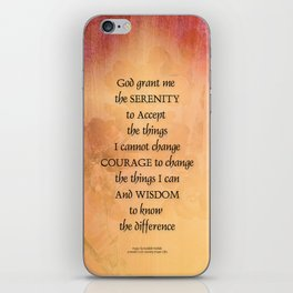 Serenity Prayer Quince and Fence One iPhone Skin