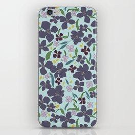 Flower Meadow - Purple iPhone Skin