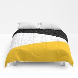 Black yellow white flap Comforters