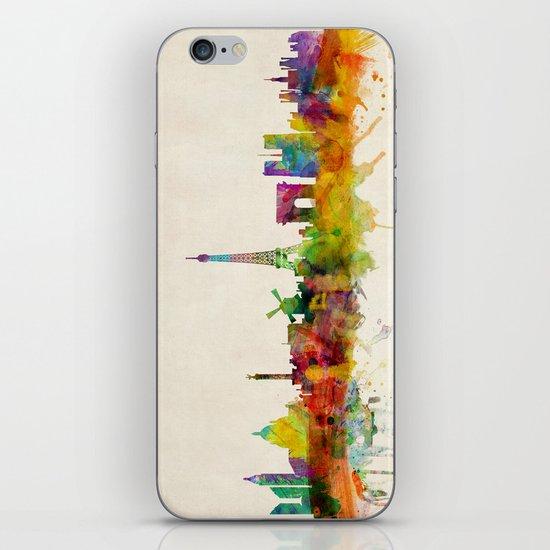 Paris Skyline Watercolor iPhone Skin