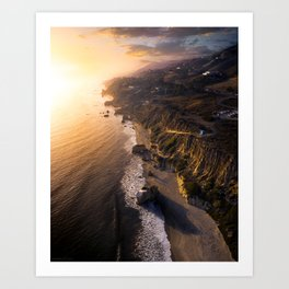 California Glows Art Print