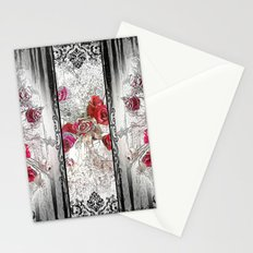 Gothic Victorian Roses Design Stationery Cards