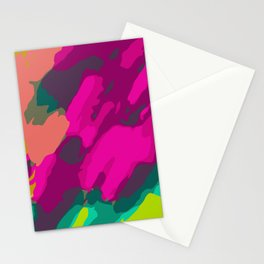 pink green and blue painting abstract background Stationery Cards